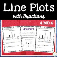 Line Plots: This resource contains line plots with fractions practice problems. A poster is also included. Each line plot provides 3-5 higher order thinking questions. There is also a page where students are given a set of data for students to make a line plot and write their own questions.Answer key also provided.Aligned to Common Core State Standards 4.MD.4Please visit my store for a variety of math games and centers.