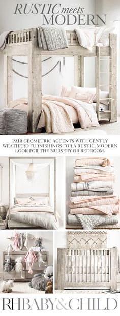 Natural materials, organic textures and muted tones add a relaxed note to clean-lined, modern designs. Shop this style at RH Baby & Child. My New Room, My Room, Girls Bedroom, Bedroom Decor, Bedrooms, Modern Bunk Beds, Big Girl Rooms, Loft Spaces, Room Inspiration