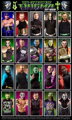 "Evolution of ""The Charismatic Enigma"" Jeff Hardy"