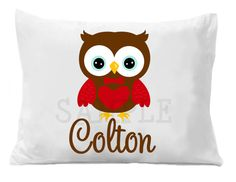 Valentine Personalized Pillow Case by TheTrendyButterfly on Etsy, $20.00