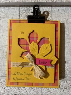 Fall Cards, Holiday Cards, Thank U Cards, Leaf Cards, Stamping Up Cards, Thanksgiving Cards, Scrapbook Cards, Scrapbooking, Halloween Cards