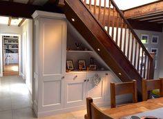 Bespoke, handmade, freestanding or fitted furniture. Kitchen Cabinets Under Stairs, Cabinet Under Stairs, Hallway Cupboards, Hallway Cabinet, Staircase Storage, Hallway Storage, Stair Storage, Alcove Shelving, Office Under Stairs