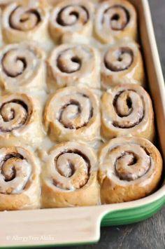 Sugar free, gluten free cinnamon rolls