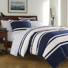 Poppy & Fritz Rylan Rugby Stripe Comforter & Duvet Set