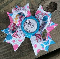 Marie from Disney's Aristocats Boutique Hairbow by BowsofFaith, $6.00