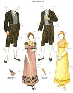 Pride and Prejudice paper dolls by Brenda Sneathen Mattox