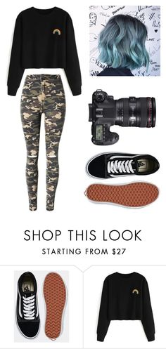 """Untitled #127"" by ladivazamendes on Polyvore featuring Eos, Vans and WithChic"