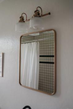 Fog Linen, Fireclay Tile, Shower Pan, Linoleum Flooring, Bathroom Floor Tiles, Budget Bathroom, Fireplace Mantels, Room Paint, Exterior Paint