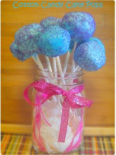 Cotton Candy Cake Pops | Dreaming All Day