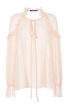 Blush georgette shirt by Roberto Cavalli
