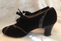 1940's Dress Shoes with Art Deco design from Marshall Field's of Chicago. $75