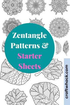 Some Zentangle patterns follow certain steps and techniques to achieve, and here's a repository of easy Zentangle patterns all the way up to more complicated ideas. Find the Zentangle patterns and starter sheets on this pin! #arts #crafts #zentangles