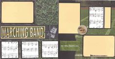Marching Band 12x12 Premade Scrapbook Pages by ohioscrapper, $24.00