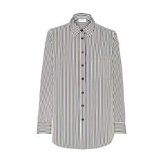 Mela Purdie Classic Pocket Shirt - Pencil Stripe Every wardrobe needs a classic shirt in a monochromatic print. Cut in a classic loose fitting way this style features a shirt collar and full length sleeve. Wear with skinny jeans or soft woven pants for transeasonal winter look.