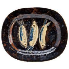 "Picasso ""Three Sardines"" Platter 1948"