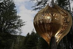 A group of designers in New Zealand have come up with the idea of this beautiful Tree house restaurant. The construction and the built is very innovative, having the touch of a pre-historic world as well as the modernized world. The tree house blends perfectly with the Redwood trees surrounding it and on which the house itself is built. It is currently under construction. Click on image for more details.