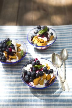 Blueberry, Ginger & Coconut Cream Parfait #blueberry #coconut #parfait