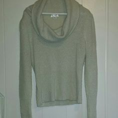 Ann Taylor Loft sweater Beautiful cream colored with gold strands throughout.  Great condition. Ann Taylor Loft Sweaters Cowl & Turtlenecks
