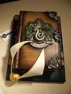 Edible Art, Harry Potter's Slytherin Diary - Cake by Francesca Liotta - For all your cake decorating supplies, please visit craftcompany.co.uk