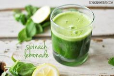 This Spinach Lemonade is super green tangy sweet and nutritious! Juice Cleanse Recipes, Green Juice Recipes, Juicer Recipes, Raw Food Recipes, Healthy Recipes, Water Recipes, Drink Recipes, Yummy Recipes, Juice Smoothie