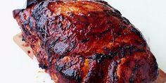 Jambon rôti au four caramélisé à la sauce barbecue