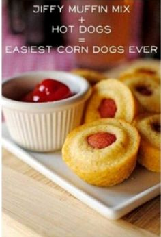 Easiest corn dogs ever