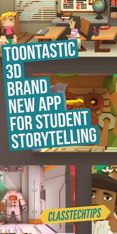 Storytelling for students! Click here to grab your copy of this favorite storytelling app for students! Toontastic 3D is an awesome choice for classrooms who want students to create.