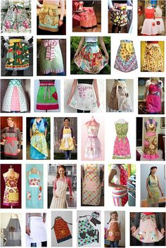 Links to thirty free patterns and tutorials for aprons