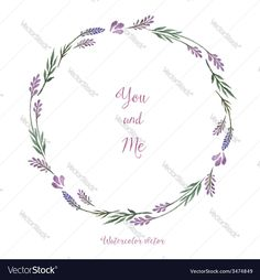 Watercolor decorative elements round frame of lavender Place for your text. Download a Free Preview or High Quality Adobe Illustrator Ai, EPS, PDF and High Resolution JPEG versions.