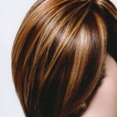 open hair style images brown lowlights and highlight hair color with side 2802