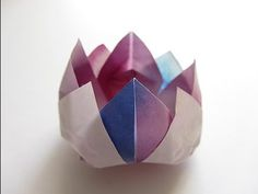 Diy origami kusudama diamond flower folding instructions diy origami love this traditional lotus origami flower it is hard to get right though mightylinksfo