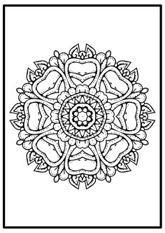 In your search of finding the one easy mandala to color you meet this simply mandala designs picture page that is free .It's new design but in the same time is classy