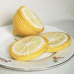 вязаный лимон крючком схема описание