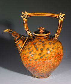 Tim Sullivan - Creekside Pottery ~ For A Spot of Tea Pottery Teapots, Ceramic Teapots, Ceramic Pottery, Ceramic Art, Ceramic Design, Teapots Unique, Tea Pot Set, Coffee Type, Teapots And Cups