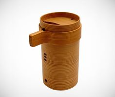 Wappa Cedar Sake Bottle on http://www.gearculture.com