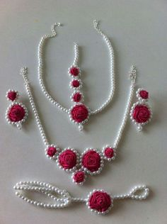 For the bride beautiful rose jewelry