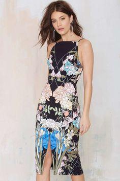 Keepsake Same Love Floral Dress - Going Out | Body-Con | Midi + Maxi | Dresses | Clothes | All | Keepsake | Keepsake