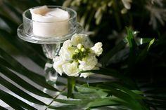 White & lavish greenery a perfect combination for guest table decor| Rehearsal dinner| venue Kukua Punta Cana| Design Begokua| Photos by Julia Eskin