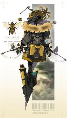 Cyberpunk Character, Cyberpunk Art, Character Concept, Character Art, Insect Art, Weapon Concept Art, Anime Oc, Character Design Inspiration, Art Tutorials