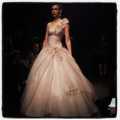 This blush gown by Ines di Santo is divine!
