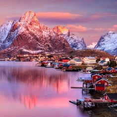 Lofoten Islands #norway #loften #photography #sea #village
