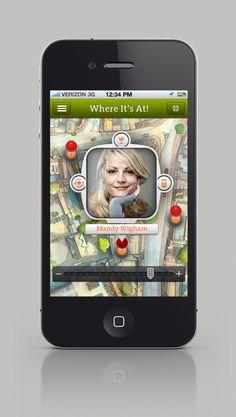 Where It's At! iOS app  #digitaldesign #design #app