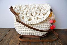Crossbody summer crochet bag / beach boho chic bag / shoulder