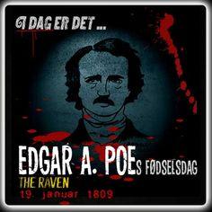 Edgar Allan Poe ville være blevet 207 år i dag.   http://www.mxrket.dk/jan19-poe.html