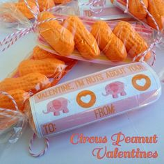 "*Rook No. 17: recipes, crafts & whimsies for spreading joy*: Valentine DIY: ""Nuts About You"" Circus Peanut Valentines {free printable}"