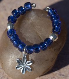 Silver Lined Beads - Sapphire