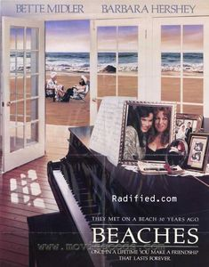 "beaches with bette midler and barbara hershey | ""BEACHES"". Starring Bette Midler as Meredith Vieira and Barbara ..."