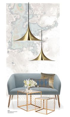 """Wallpaper inspired by NASA imagery. .."" by gloriettequartet ❤ liked on Polyvore featuring interior, interiors, interior design, home, home decor, interior decorating, Gubi, Dot & Bo, Nate Berkus and John-Richard"