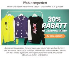 30% auf alle Jacken und Westen Gutscheincode: JACKE30 Gültig bis 19.06.2014 http://www.t-shirt-mit-druck.de/maenner-kleidung-produktauswahl.htm#Pro-M-Jacken