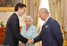 Prince Charles, pictured with his mother and Canadian Prime Minister Justin Trudeau, is more of a loose cannon who 'cannot keep his mouth shut' writes Hastings